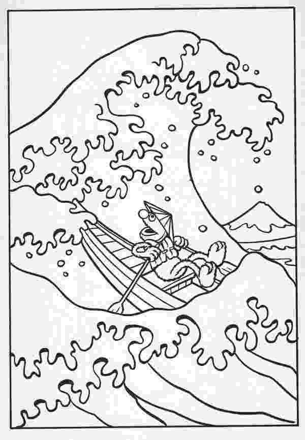 the great wave coloring page hokusai great wave coloring page sketch coloring page wave coloring page the great