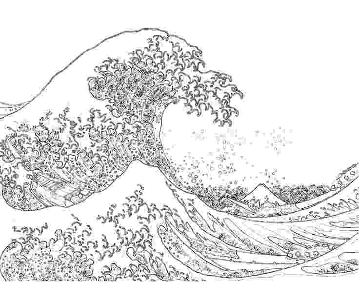 the great wave coloring page hokusai waves colouring pages in 2019 mermaid coloring coloring the great page wave