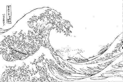 the great wave coloring page quotthe great wavequot by hokusai collaborative activity coloring page great wave the