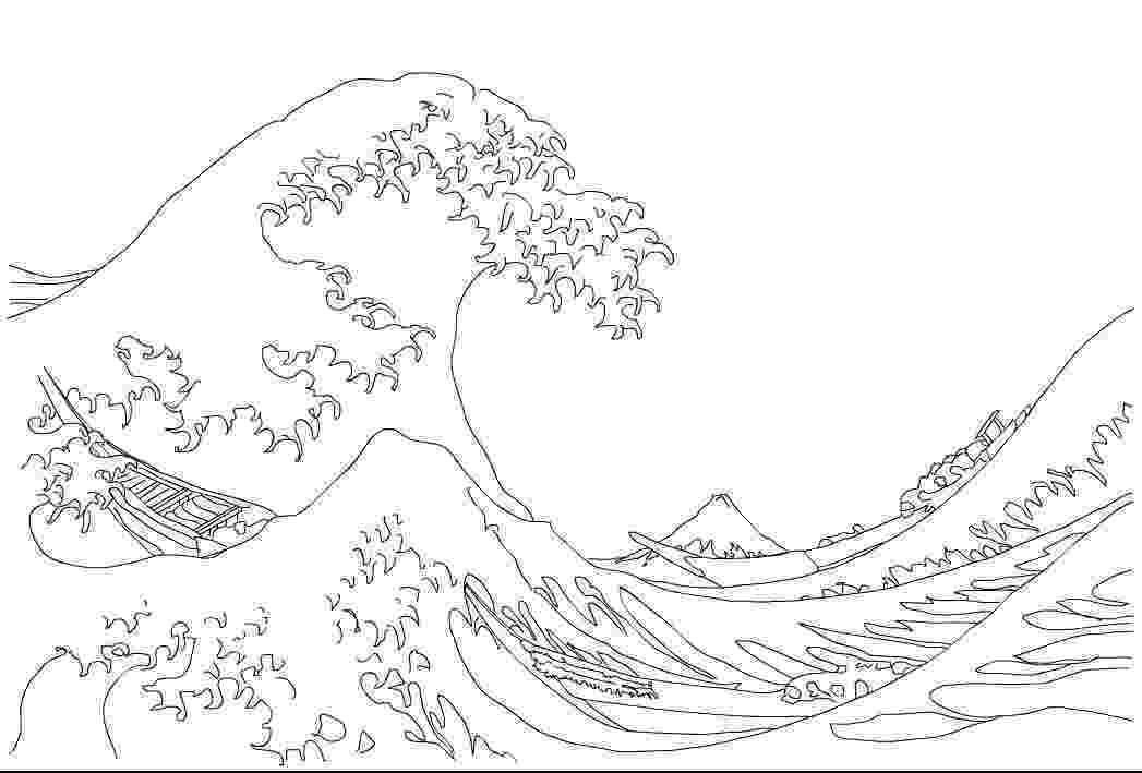 the great wave coloring page the great wave of kanagawa 18291833 by katsushika coloring the great wave page