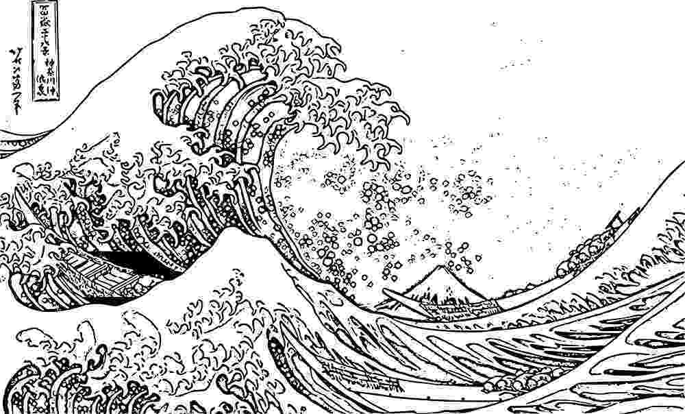 the great wave coloring page the great wave off kanagawa coloring book for vector image page coloring wave the great