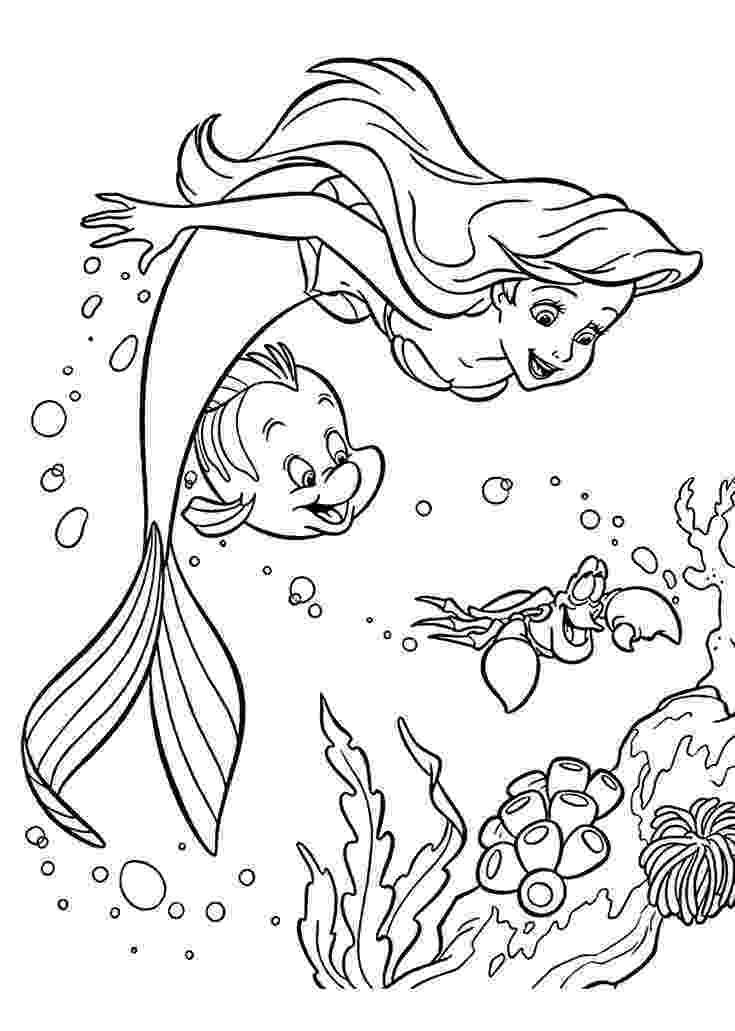 the little mermaid coloring page little mermaid coloring pages getcoloringpagescom page coloring the little mermaid