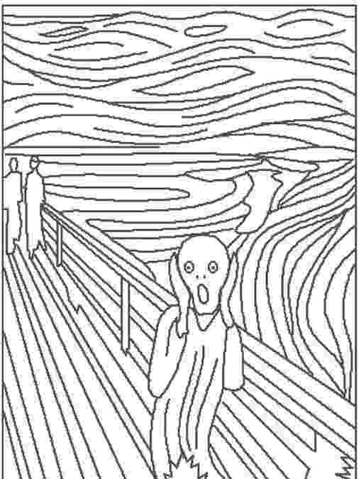 the scream coloring sheet pin on master artist lesson ideas art history projects scream coloring the sheet