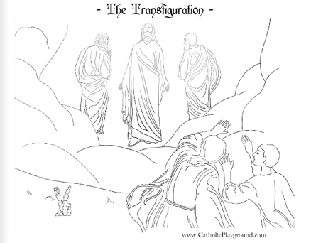 the transfiguration of jesus coloring page feast of the transfiguration coloring page august 6th page of transfiguration coloring jesus the