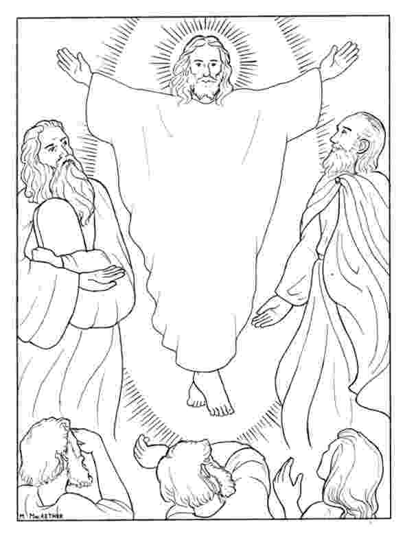 the transfiguration of jesus coloring page jesus transfiguration coloring page free printable coloring the transfiguration of page jesus