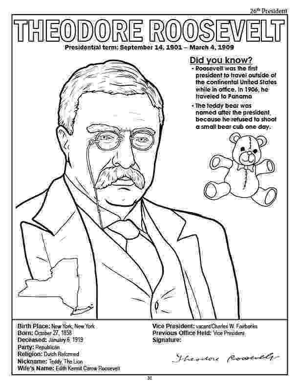 theodore roosevelt coloring page free theodore roosevelt cliparts download free clip art theodore coloring roosevelt page