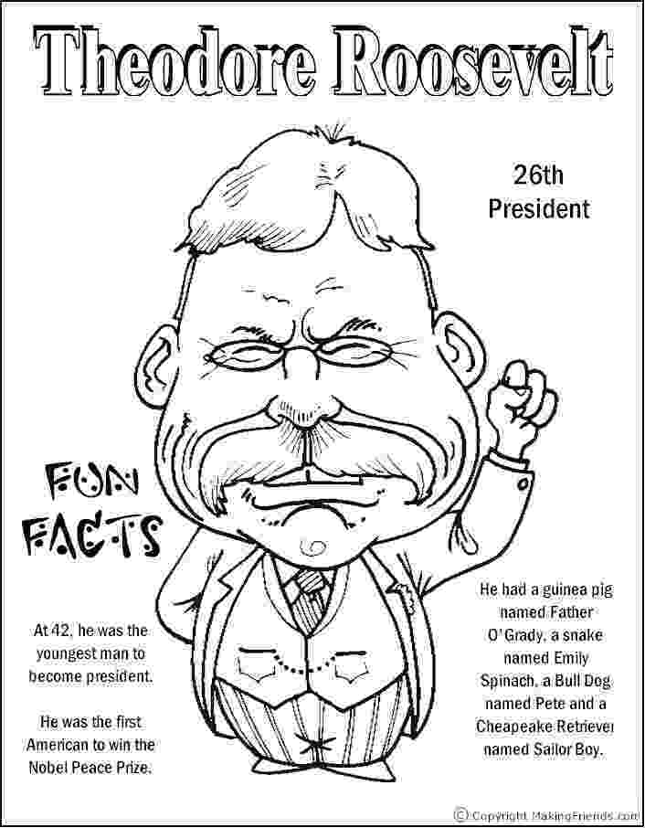 theodore roosevelt coloring page theodore roosevelt coloring theodore roosevelt page