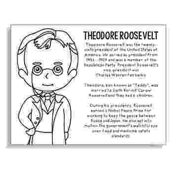 theodore roosevelt coloring page theodore roosevelt facts and pictures page theodore roosevelt coloring