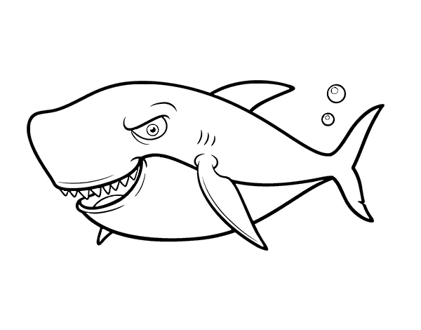 tiburones para dibujar angry shark coloring page coloringcrewcom dibujar para tiburones