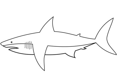 tiburones para dibujar easy shark coloring page free printable coloring pages tiburones para dibujar