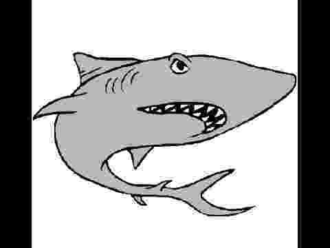 tiburones para dibujar great white shark 3 coloring page free printable para tiburones dibujar