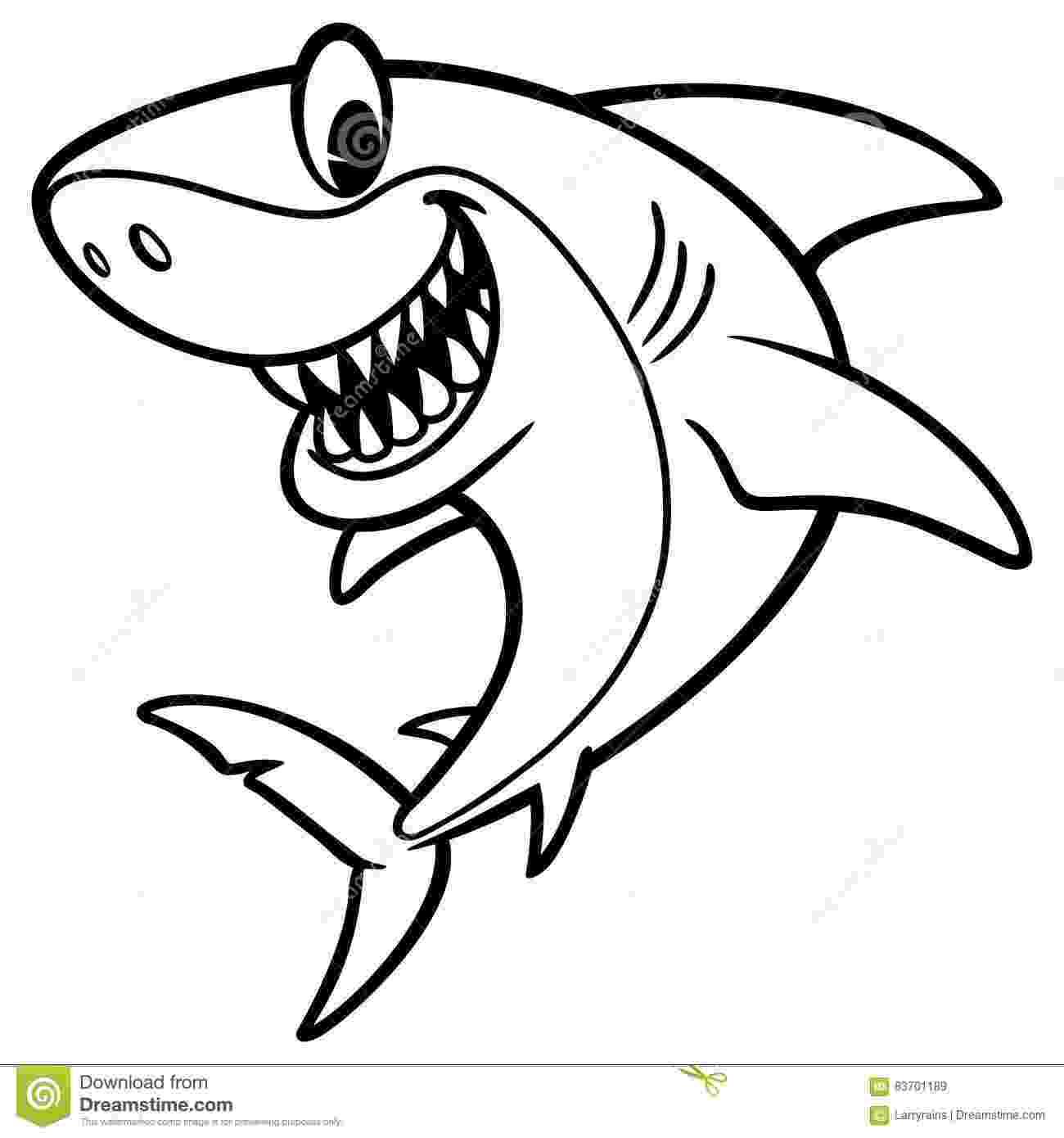 tiburones para dibujar shark cartoon drawing stock vector illustration of tiburones dibujar para