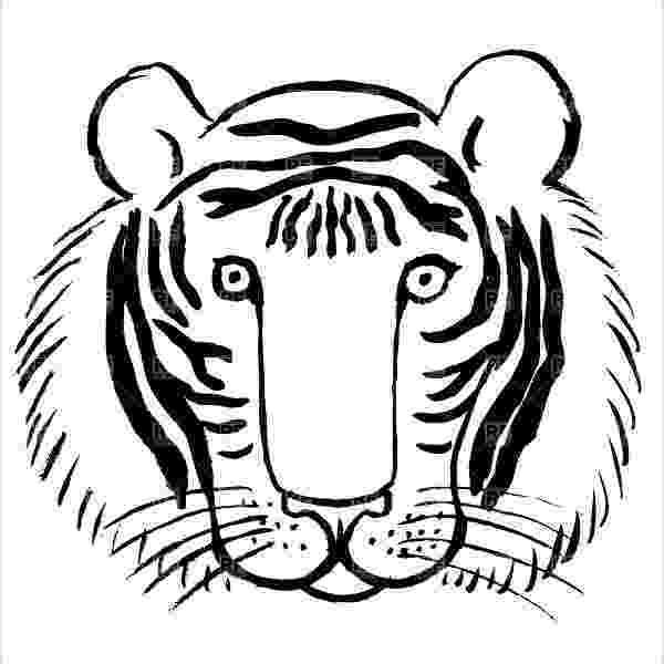 tiger face coloring page 9 tiger coloring pages jpg ai illustrator download tiger face coloring page