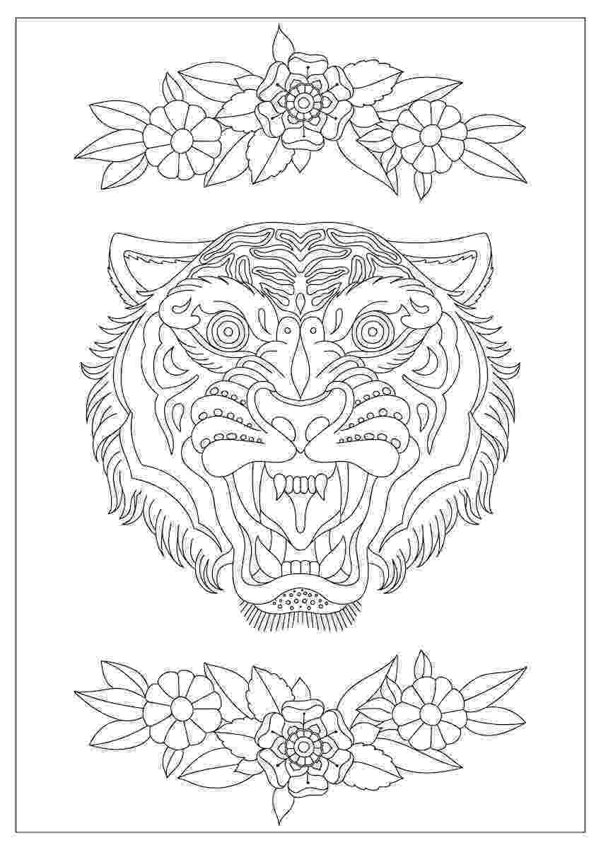 tiger face coloring page coloring pages of tiger face food ideas page coloring tiger face