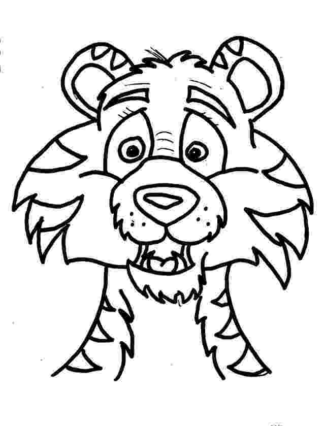 tiger face coloring page dangerous tiger face coloring page wecoloringpagecom coloring page tiger face