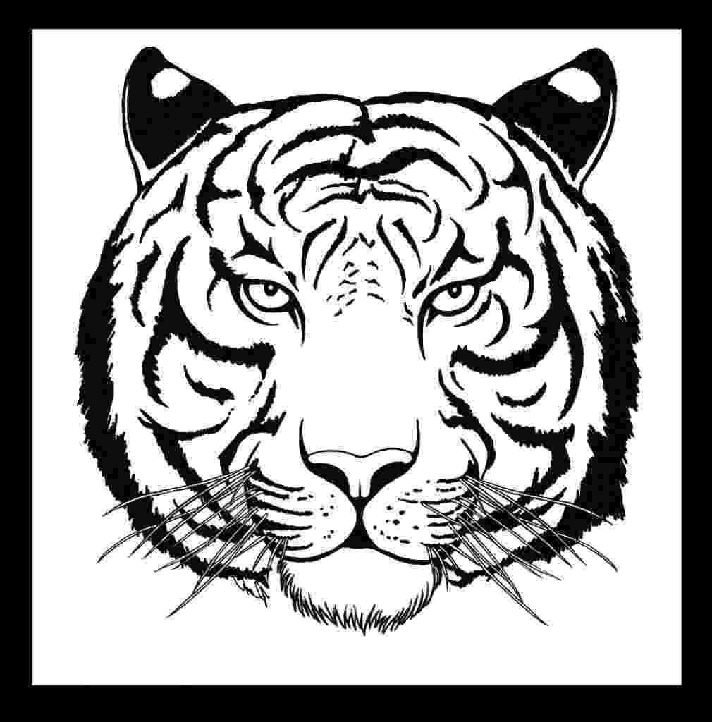tiger face coloring page tiger face coloring pages at getcoloringscom free face coloring page tiger
