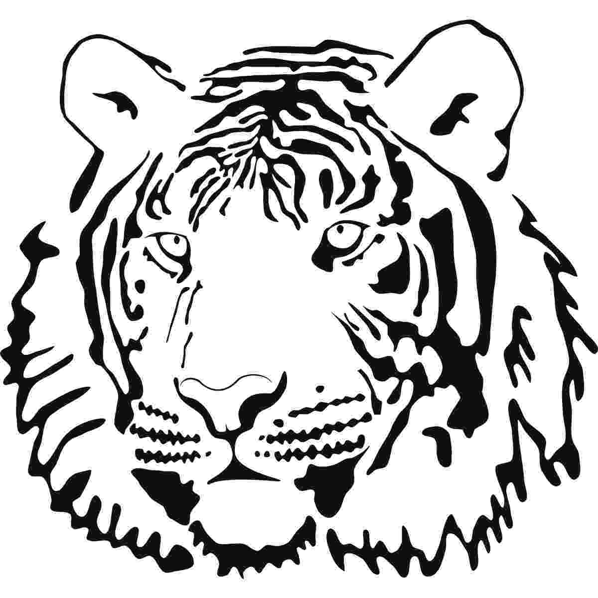 tiger face coloring page tiger face profile animals wall art sticker wall decal face tiger page coloring