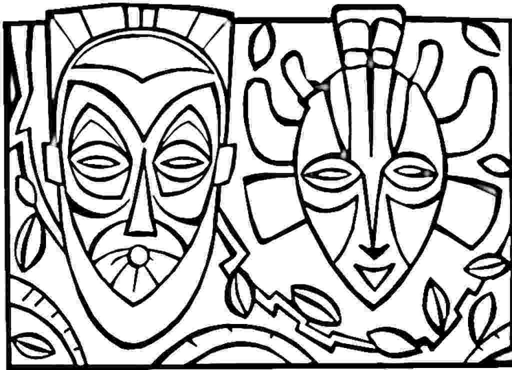 tiki coloring pages hawaiian tiki mask coloring pages download and print for free tiki pages coloring
