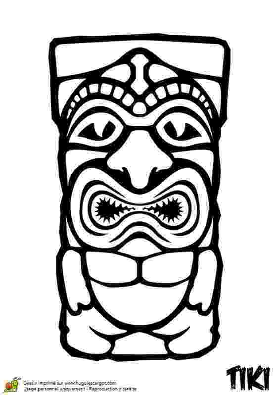 tiki coloring pages hawaiian tiki mask coloring pages printable sketch tiki coloring pages