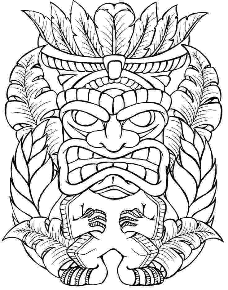 tiki coloring pages tiki mask drawing at getdrawingscom free for personal coloring tiki pages