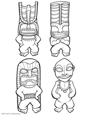 tiki coloring pages tiki mask vector at getdrawingscom free for personal tiki coloring pages