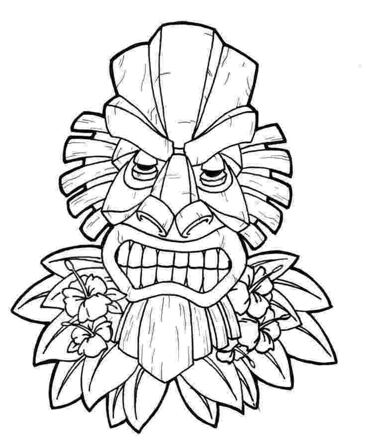 tiki masks for kids hawaiian tiki masks coloring pages tiki masks pinterest masks for tiki kids
