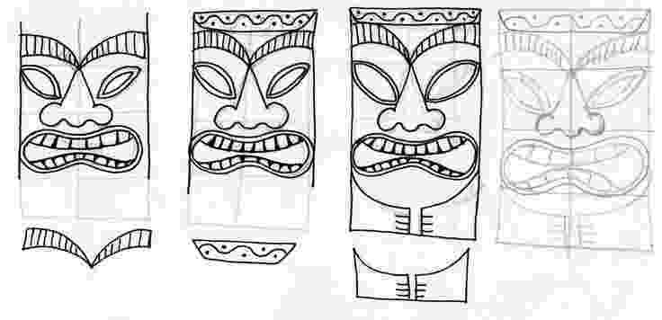 tiki masks for kids printable tiki mask template from printabletreatscom for kids masks tiki