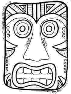 tiki masks for kids printable tiki mask template from printabletreatscom tiki masks kids for