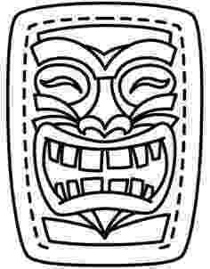 tiki masks for kids tiki mask coloring page coloring home tiki for masks kids