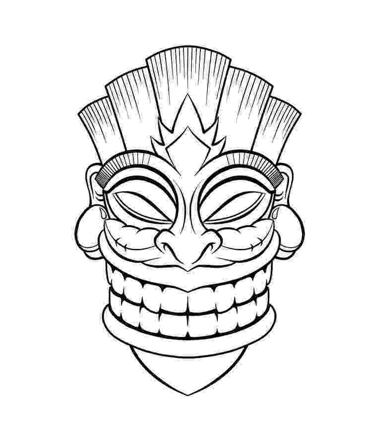 tiki masks for kids tiki mask coloring pages coloring home kids for tiki masks