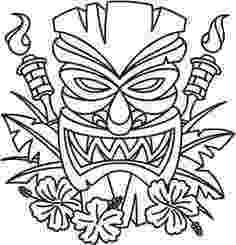 tiki masks for kids tiki tribal pole coloring page tiki pinterest totems kids for tiki masks