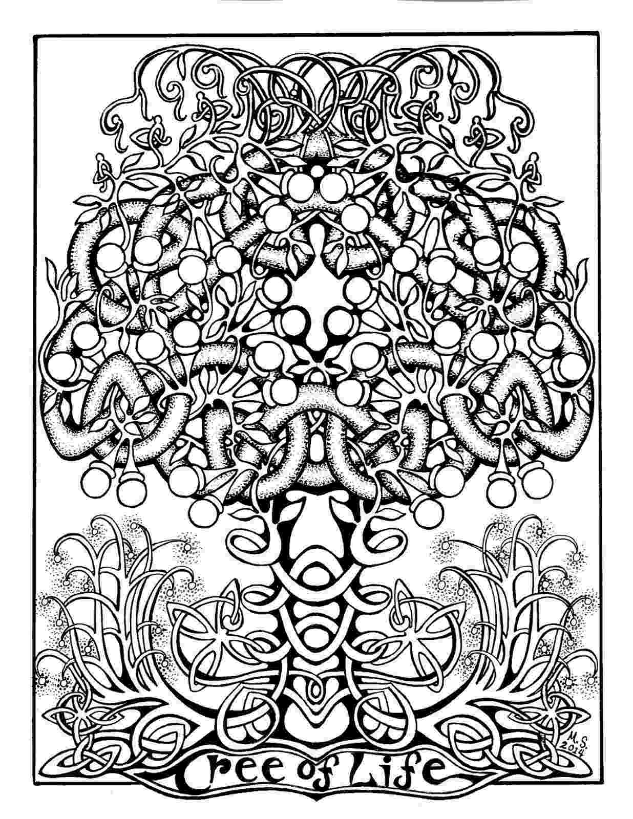 tree of life coloring pages celtic tree of life coloring page free printable coloring pages life of tree