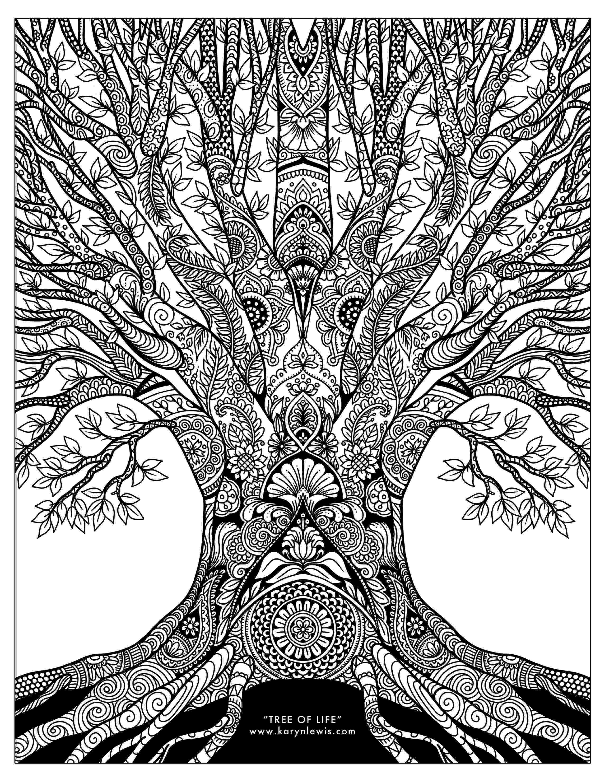 tree of life coloring pages free coloring pages for download karyn lewis illustration of coloring tree life pages