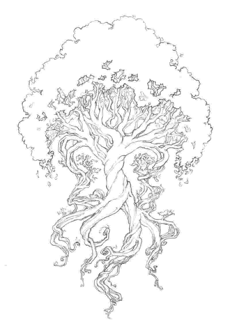 tree of life coloring pages the third wyrd tattoo tree life coloring of pages