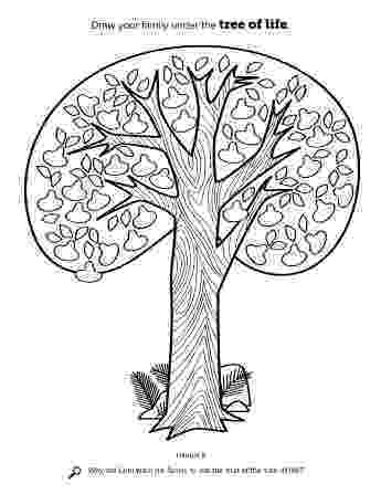 tree of life coloring pages the tree of life tree pages coloring of life