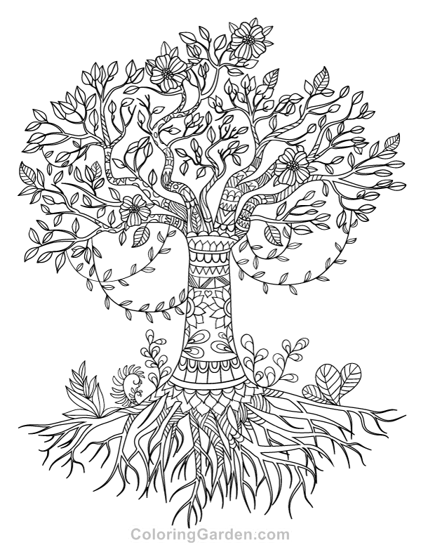 tree of life coloring pages tree of life adult coloring page of tree pages life coloring
