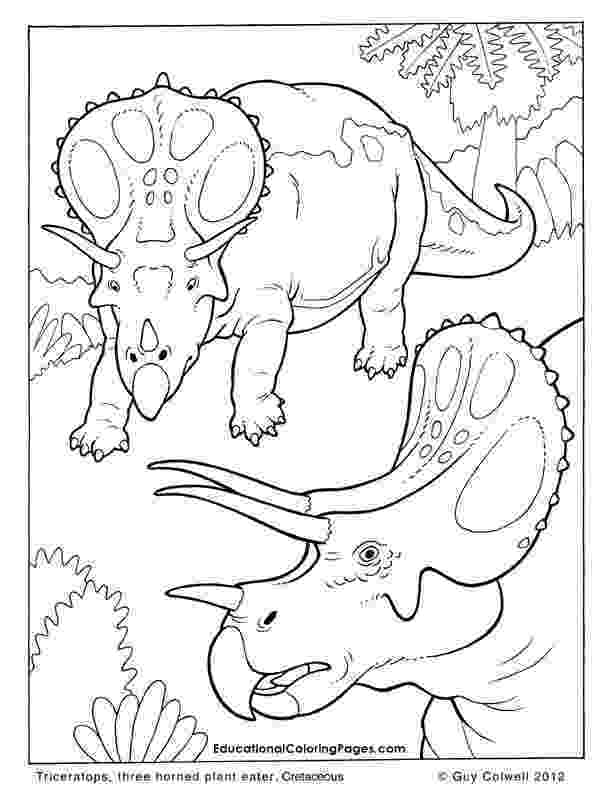 triceratops coloring pages extinct animals 36 printable dinosaur coloring pages triceratops coloring pages