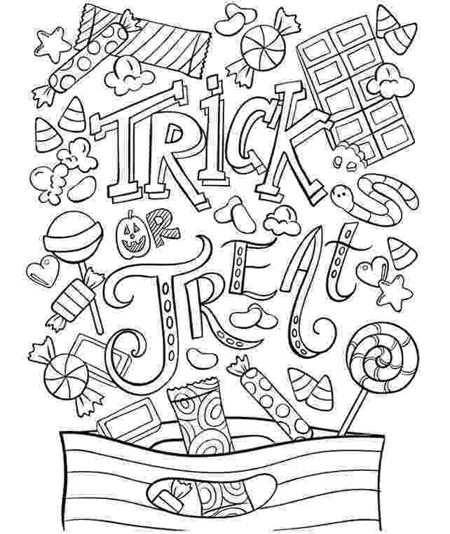trick or treat coloring pages 24 free printable halloween coloring pages for kids pages or treat trick coloring