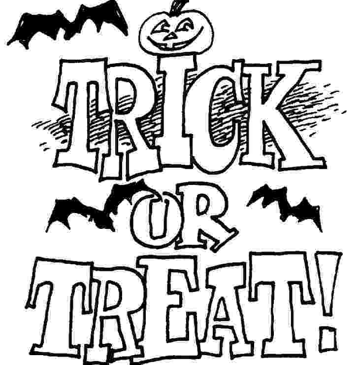 trick or treat coloring pages free halloween coloring pages for adults kids or trick pages treat coloring