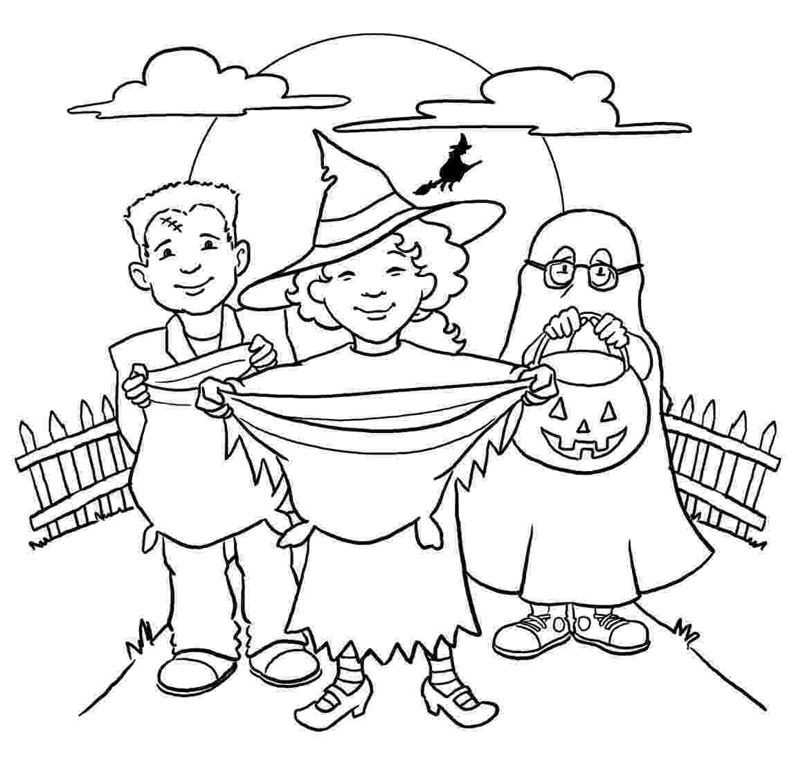 trick or treat coloring pages free halloween coloring pages for kids or for the kid in treat trick or coloring pages