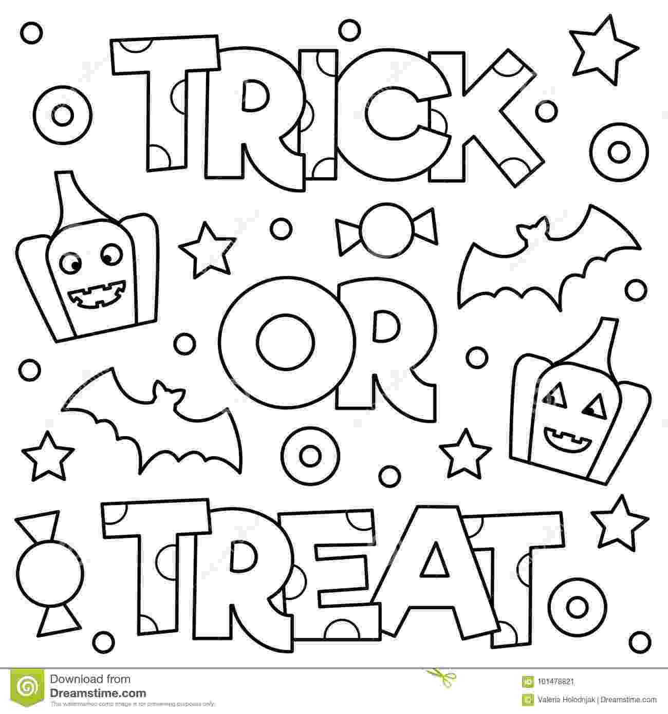 trick or treat coloring pages free printable halloween coloring pages not quite treat or coloring trick pages