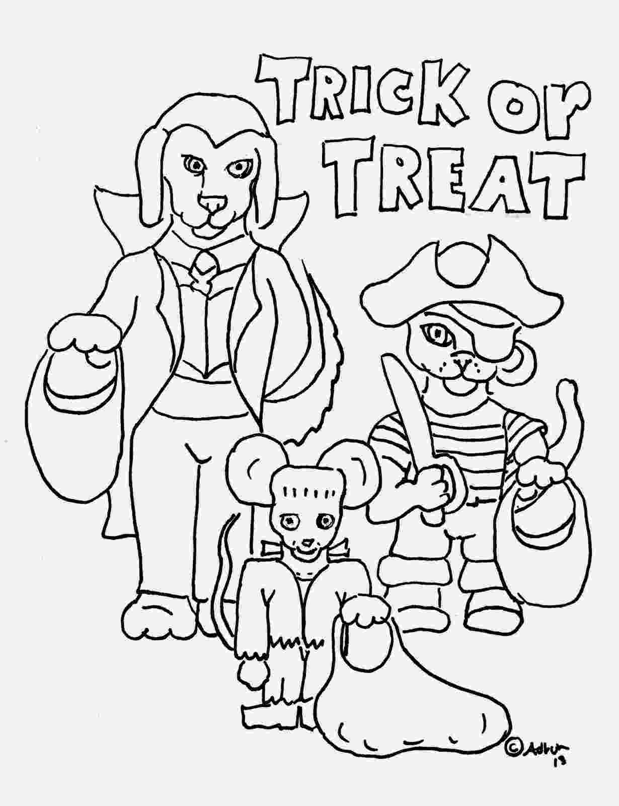 trick or treat coloring pages fun free halloween coloring pages or coloring pages trick treat
