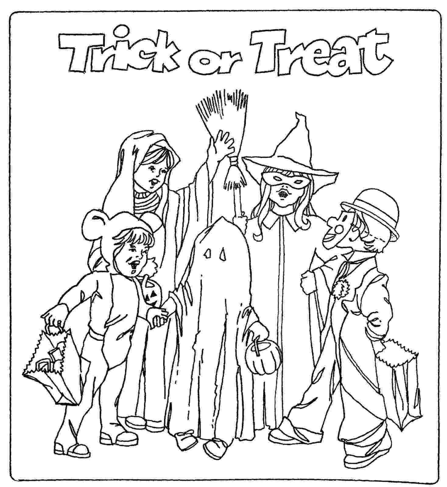 trick or treat coloring pages halloween coloring pages coloring trick pages or treat