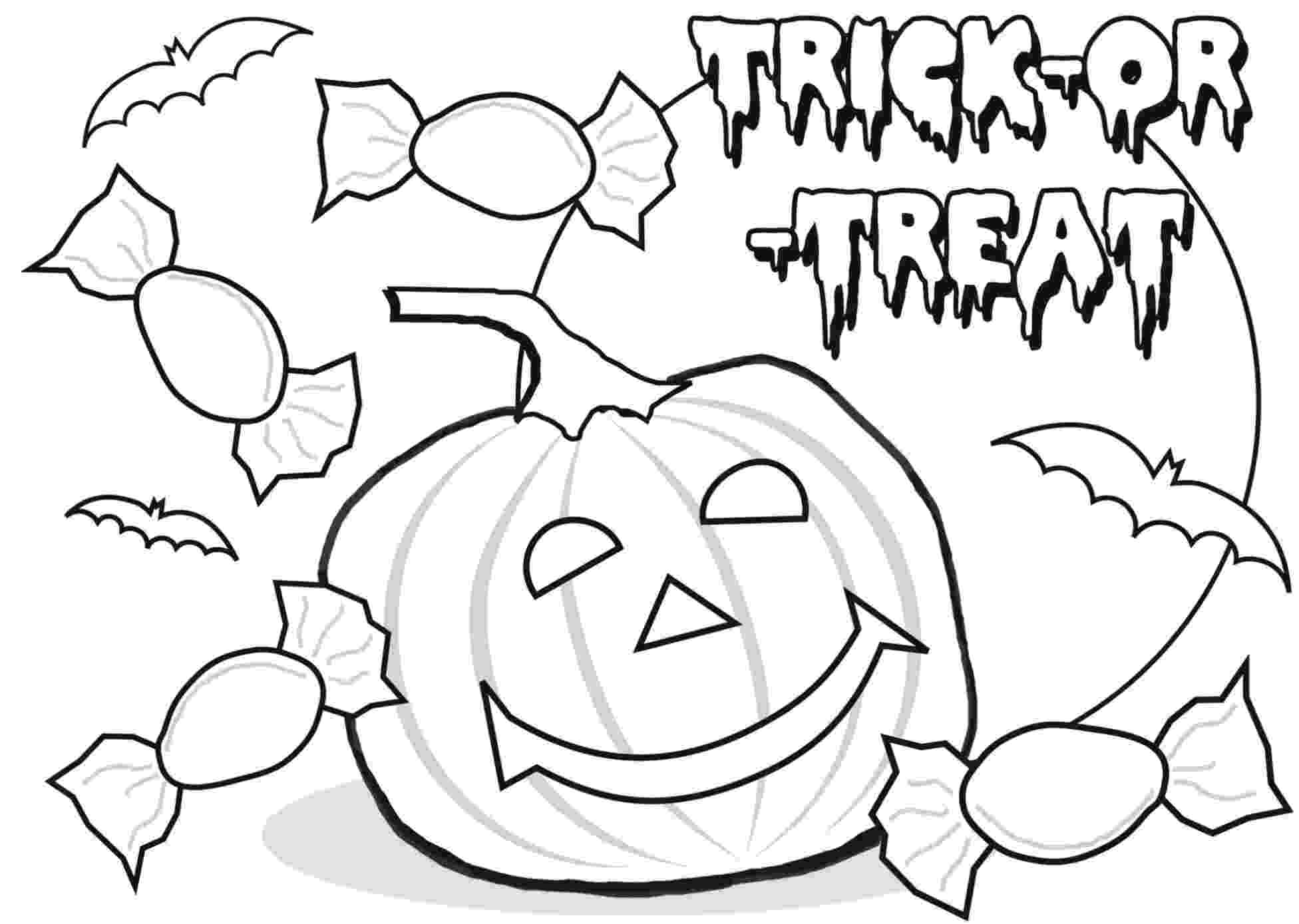 trick or treat coloring pages halloween colorings or pages coloring trick treat