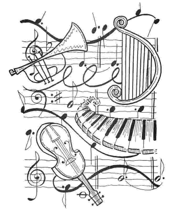 trumpet coloring art therapy coloring page music harp trumpet violin coloring trumpet