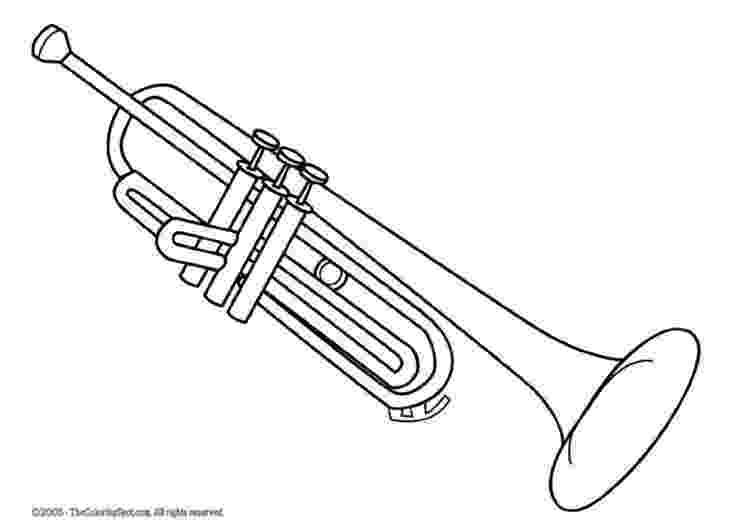 trumpet coloring clip art trumpet coloring page i abcteachcom abcteach coloring trumpet