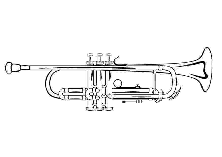 trumpet coloring coloring page trumpet img 10032 coloring trumpet