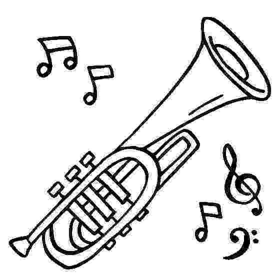 trumpet coloring tromba da colorare strumenti musicali musical disegni trumpet coloring