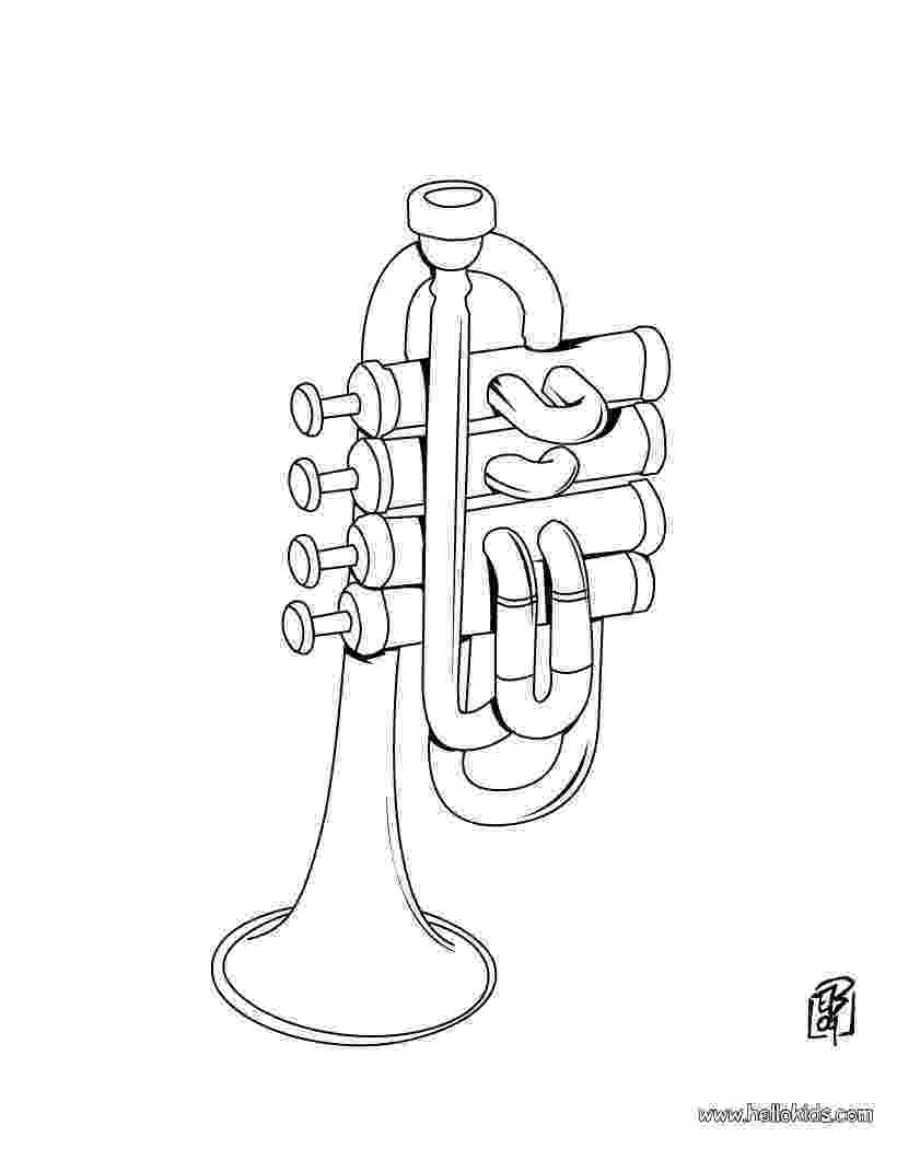 trumpet coloring trumpet coloring pages hellokidscom coloring trumpet
