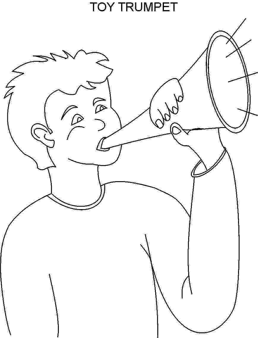 trumpet coloring trumpet coloring pages kidsuki coloring trumpet